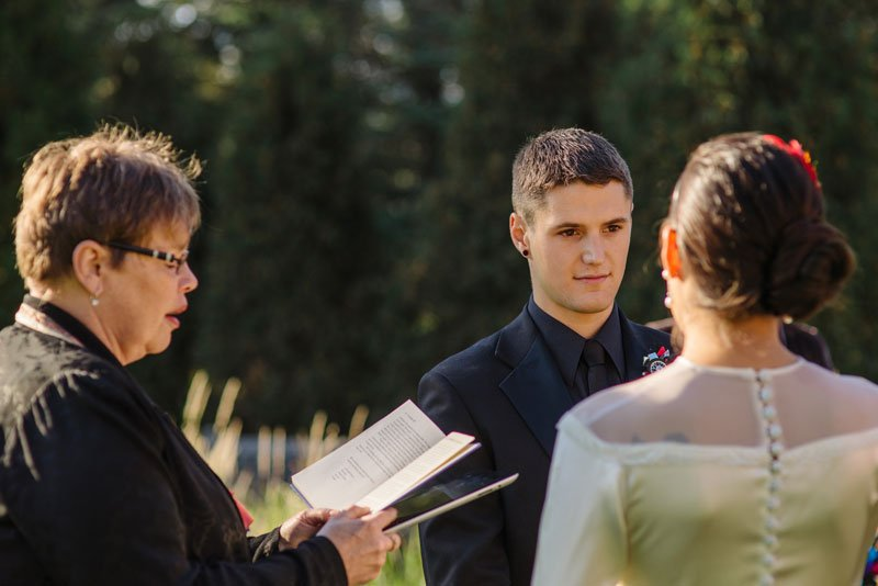 small wedding at arneson acres park