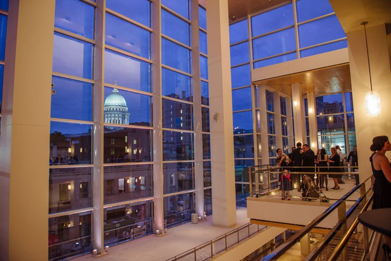 capitol view for overture center cocktail hour in madison wi