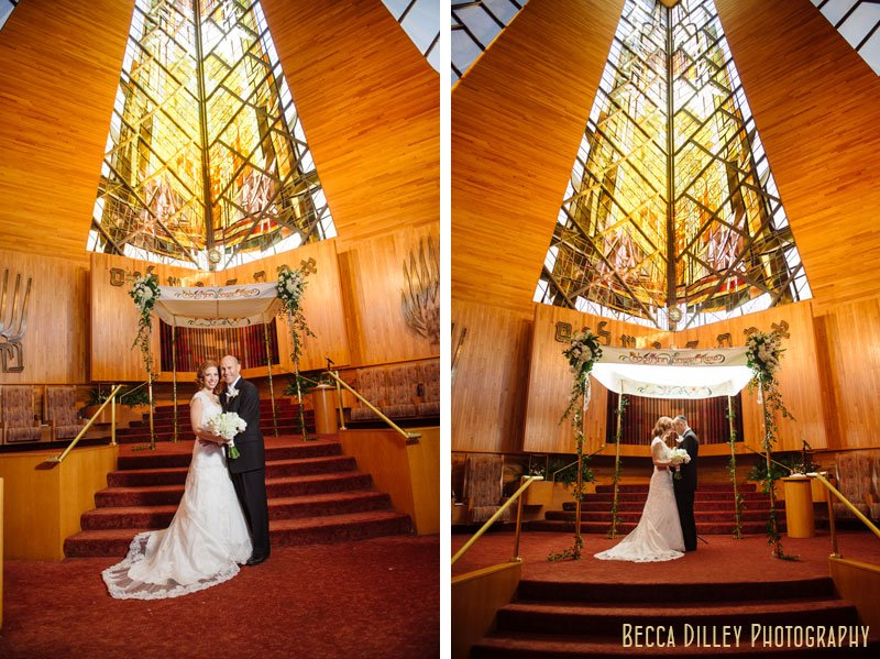 bride and groom under chuppah at Beth El Synagogue in St Louis Park MN