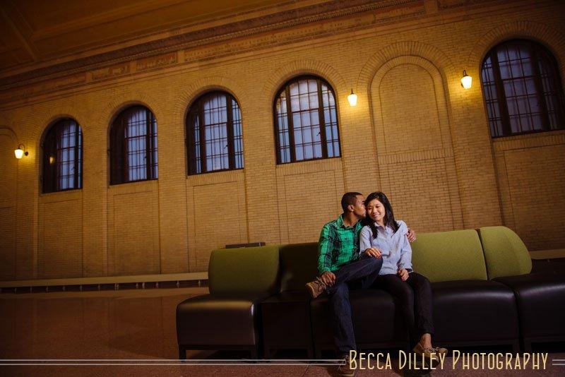 St Paul engagement photos at Union Depot