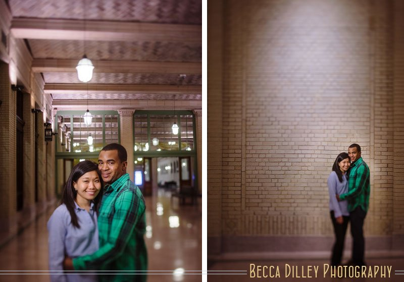 moody St Paul engagement photos at Union Depot