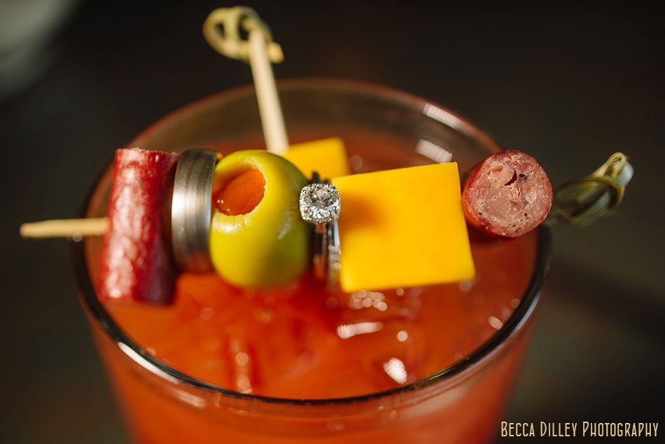 bloody mary with wedding rings Windsor Country Club wedding Madison Wi