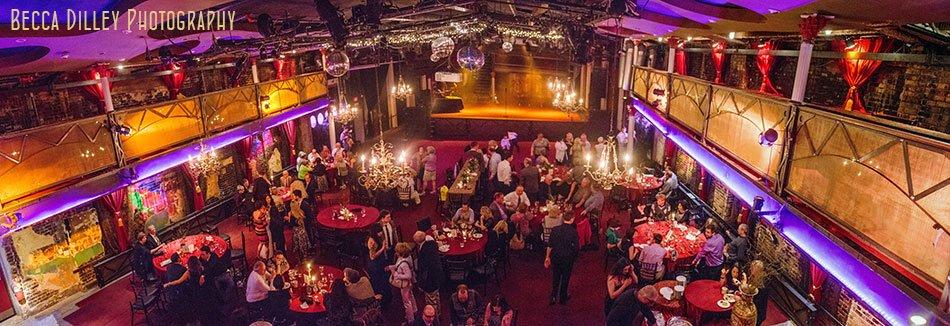panorama of vintage theater Varsity Theater wedding Minneapolis
