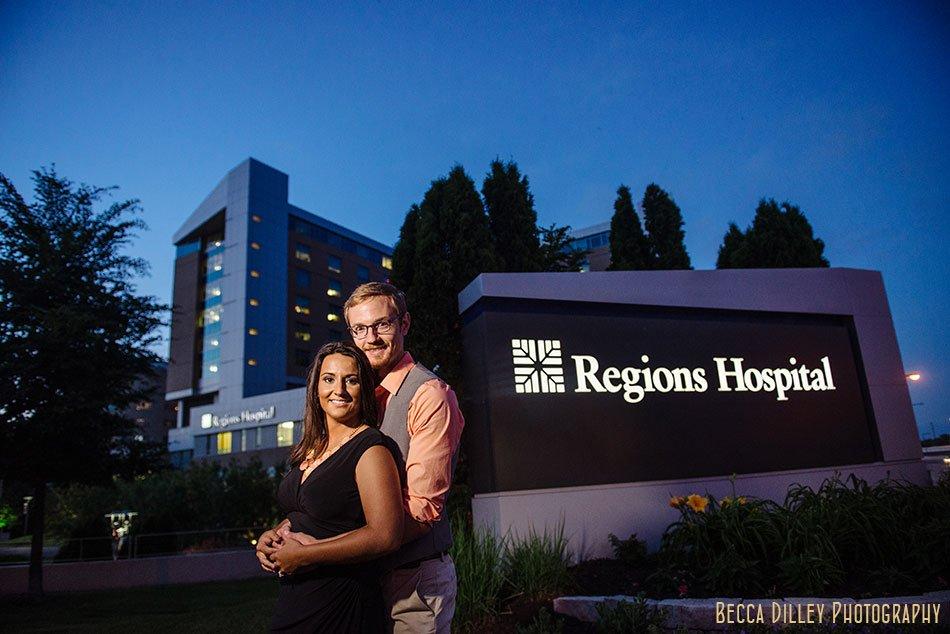 engagement photos at regions hospital st paul