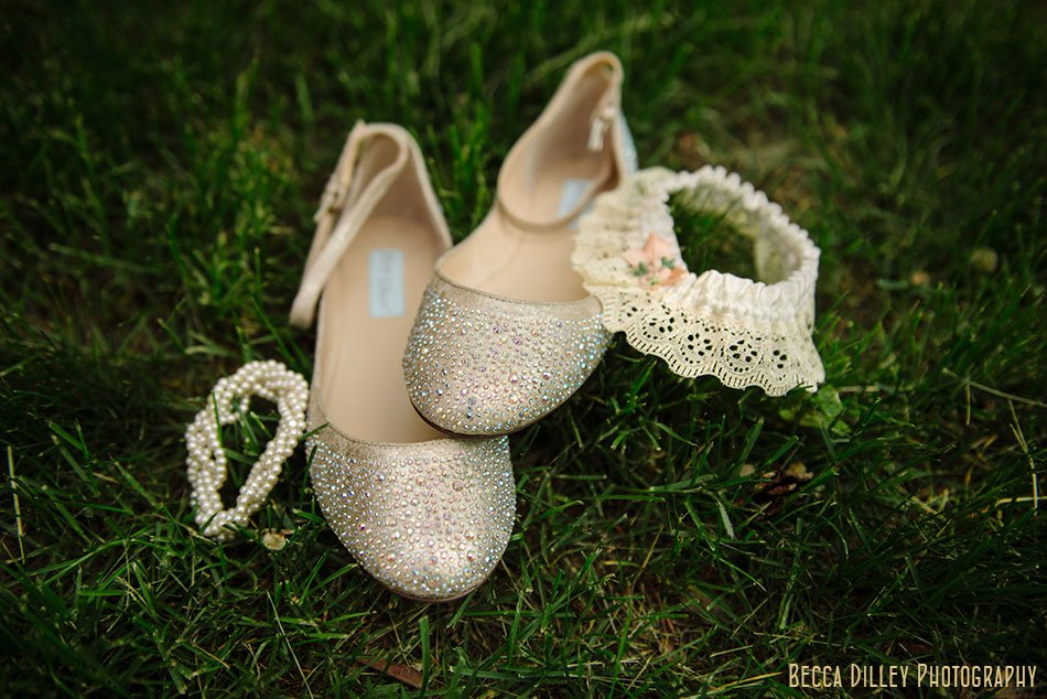 ballet wedding shoes and garter