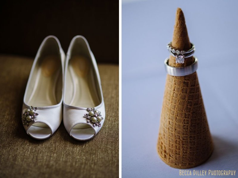 wedding rings on ice cream cone