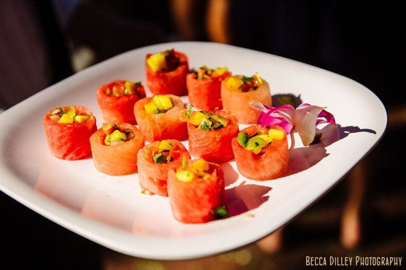 watermelon appetizers at minnesota boat club on raspberry island st paul mn