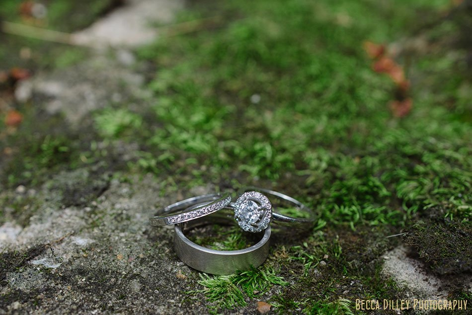 art deco wedding rings at hilltop in Spring Green WI