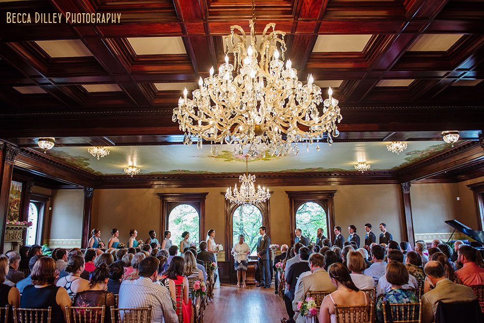 wedding ceremony at Semple mansion wedding minneapolis mn