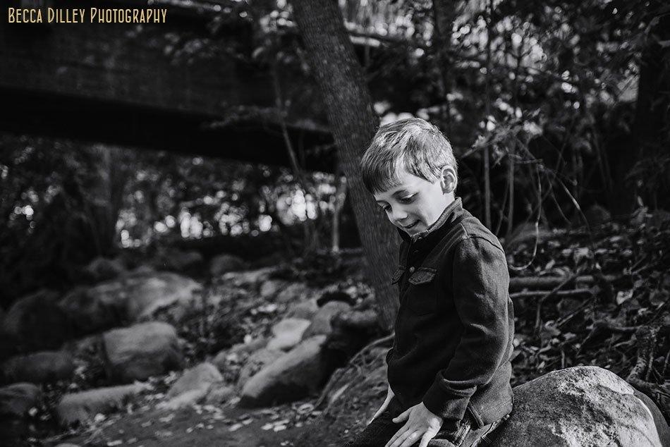 boy at minnehaha creek