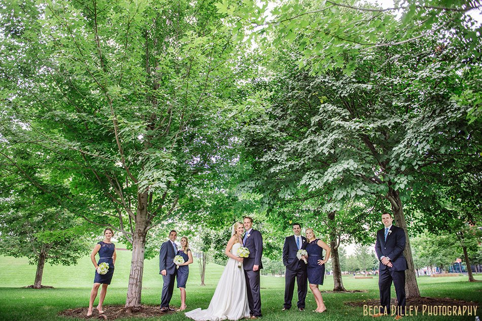wedding party at gold medal park