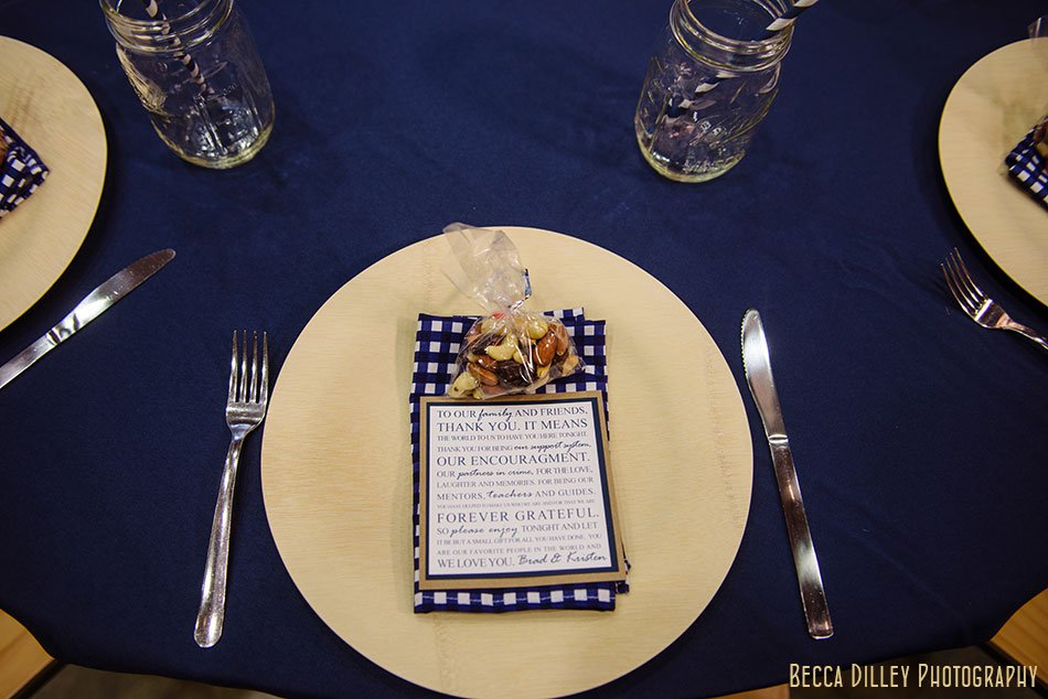 table place setting details at silverwood park wedding