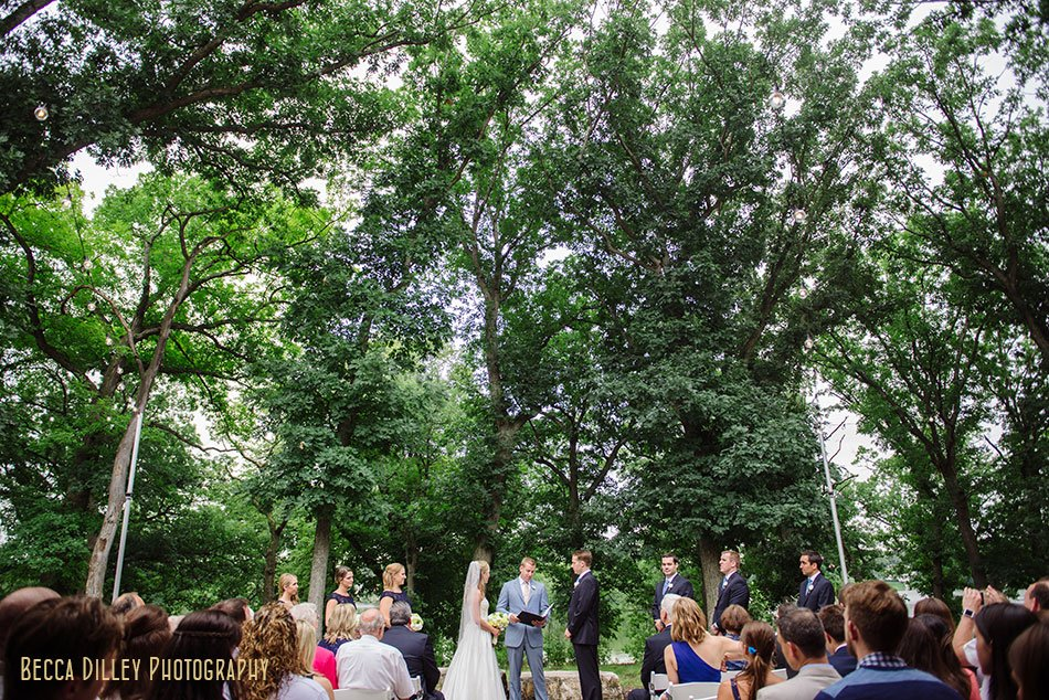 wedding ceremony at silverwood park minneapolis