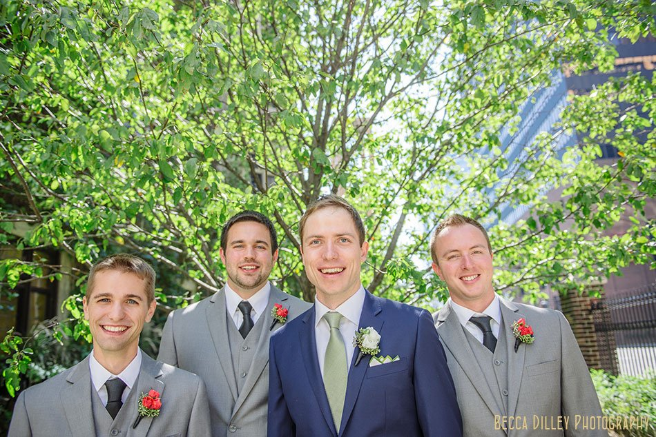 groomsmen at minneapolis club wedding
