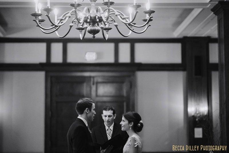 wedding ceremony at minneapolis club wedding