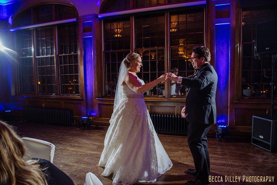 first dance st paul university club wedding