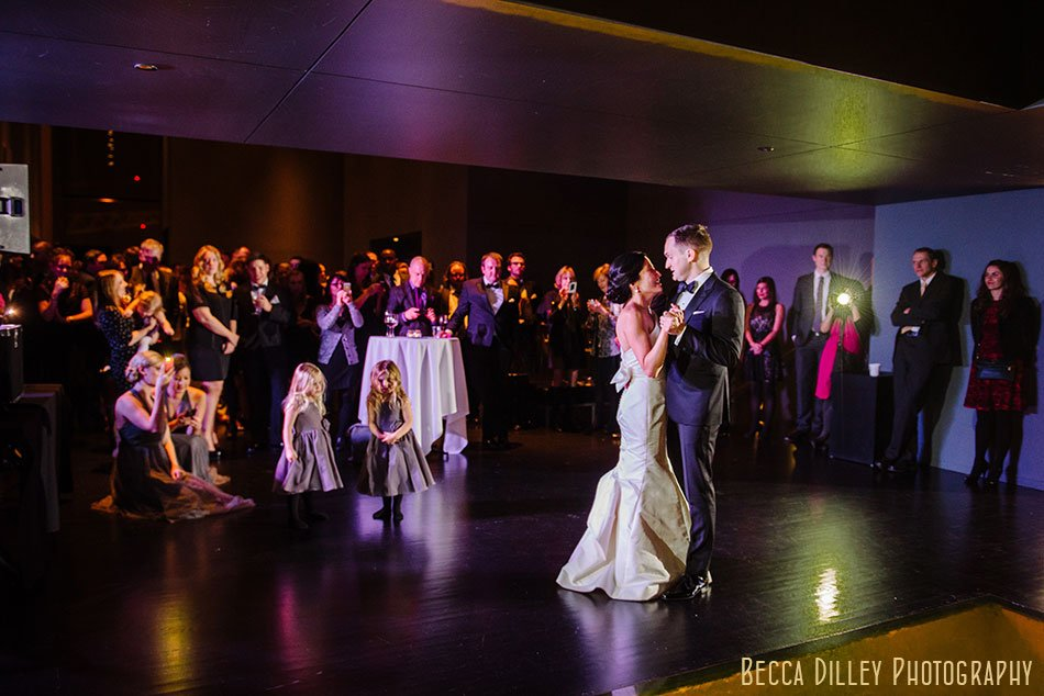 first dance guthrie theater wedding ceremony winter minneapolis photographer