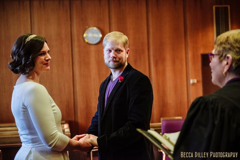 ceremony st paul city hall elopement