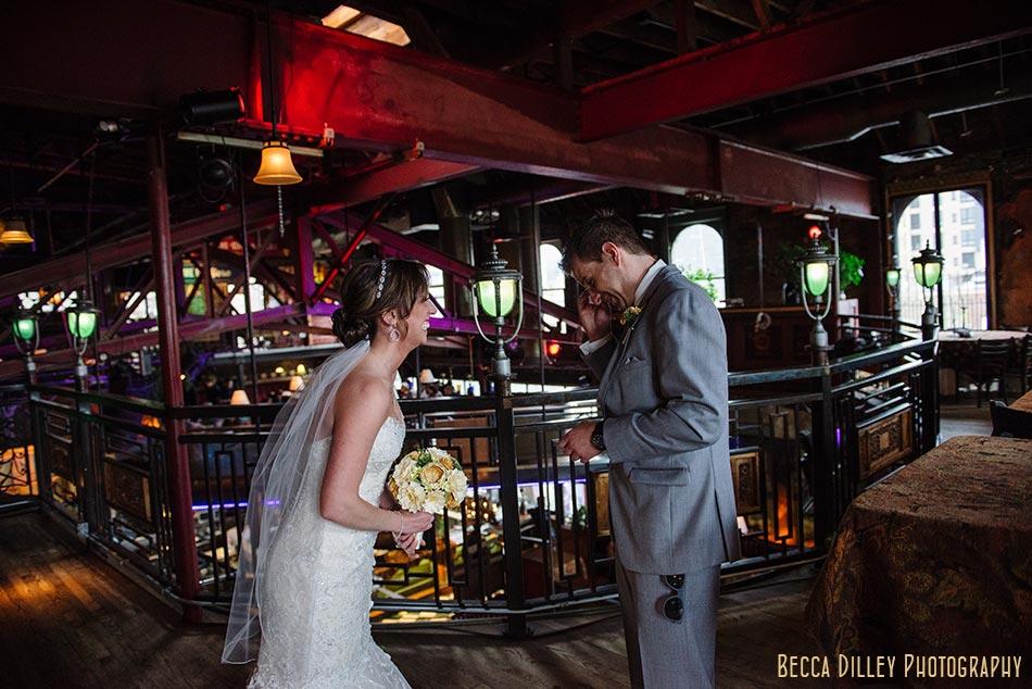 first look minneapolis wedding photographer varsity theater april mn