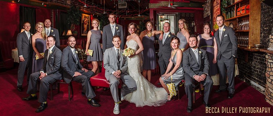 flash composite large wedding party minneapolis wedding photographer varsity theater april mn