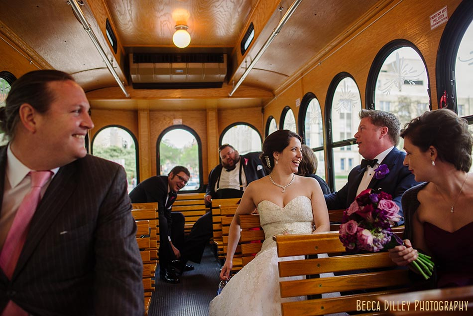 vintage trolley madison wisconsin wedding