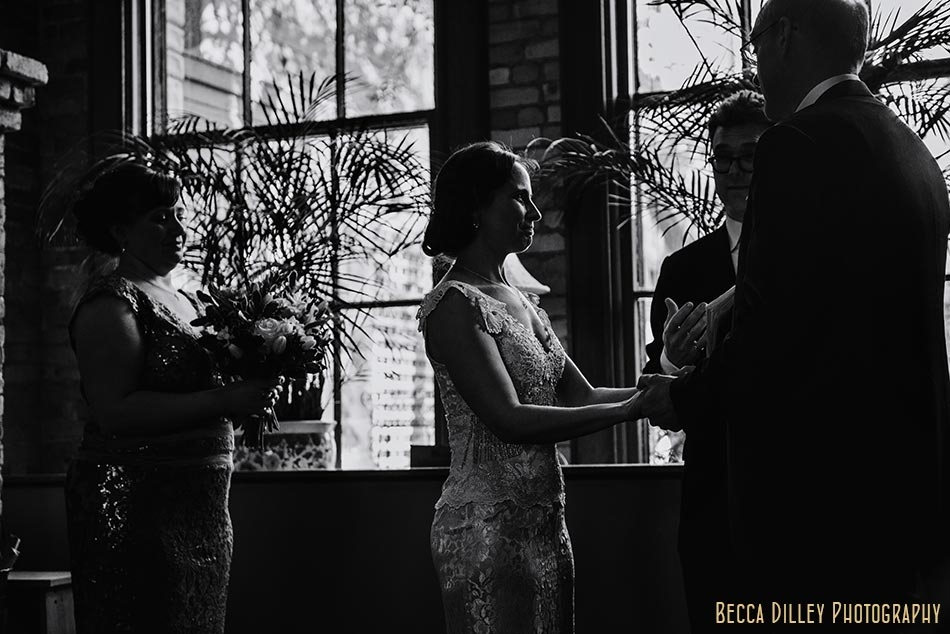 ceremony in fireplace room wa frost wedding st paul mn photographer