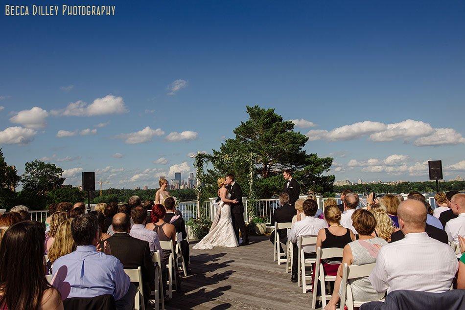 outdoor ceremony Minikahda Club wedding minneapolis