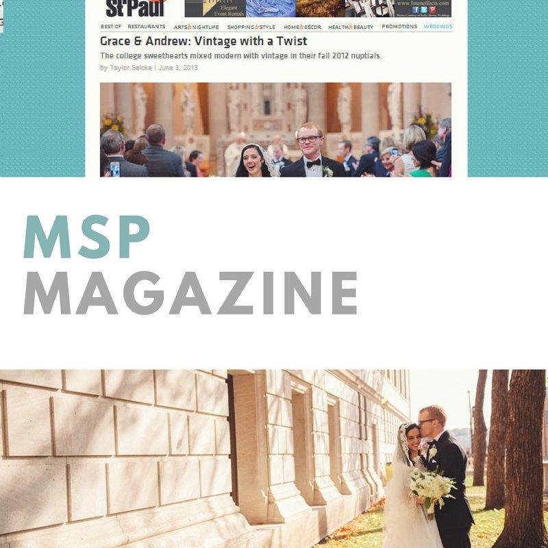 featured in MSP Weddings Magazine