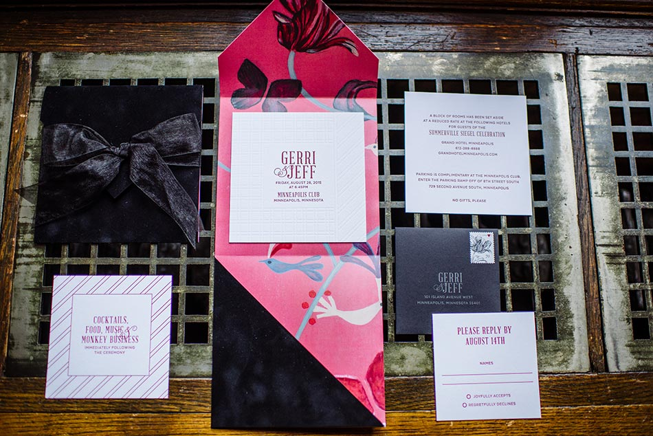 invitations lavish minneapolis club wedding