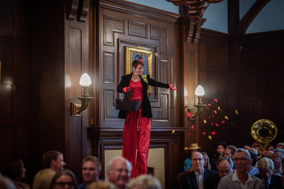 stilt walker lavish minneapolis club wedding