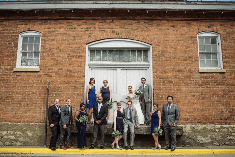 wedding party Stillwater Historic Courthouse Wedding mn