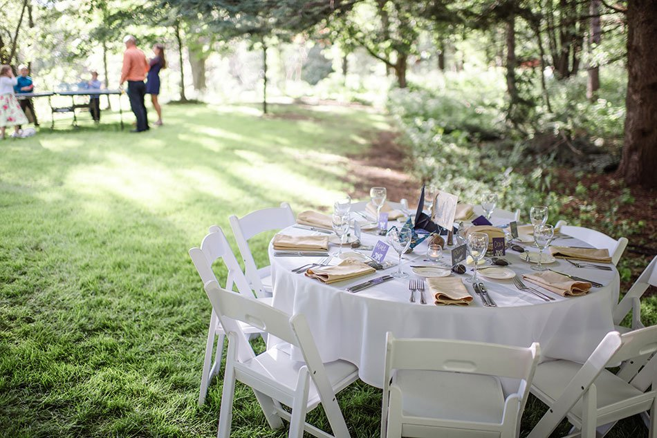 tablescape White Bear Lake Backyard Wedding