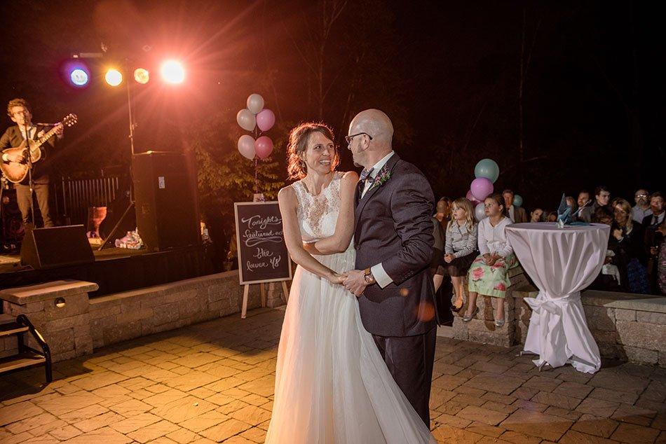 bride and groom first dance White Bear Lake Backyard Wedding