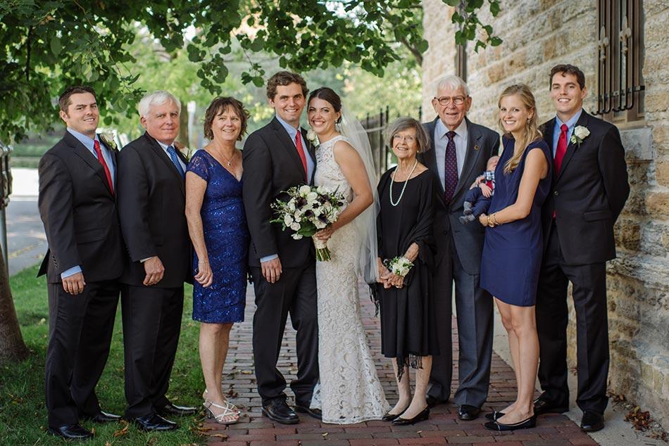 family photos Lady of Lordes Wedding Minneapolis