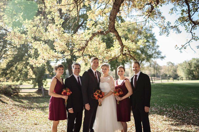 Theodore Wirth Wedding Minneapolis small wedding party