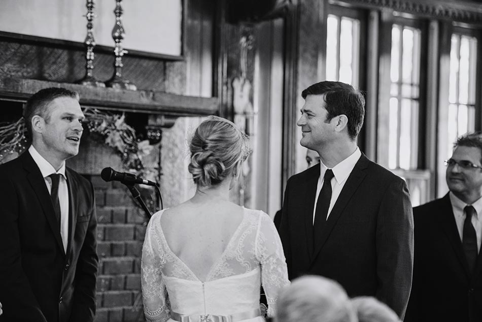 groom at ceremony Theodore Wirth Wedding Minneapolis