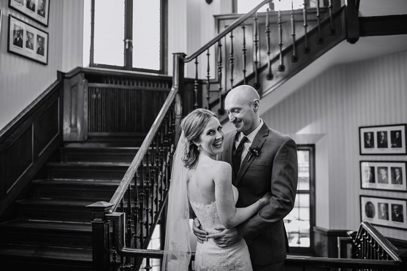 stairwell Wedding at Minneapolis Club