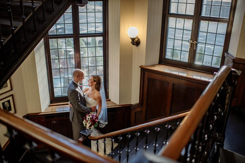 stairs Wedding at Minneapolis Club
