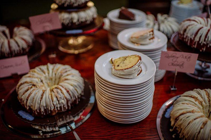 dessert bundt cake Wedding at Minneapolis Club