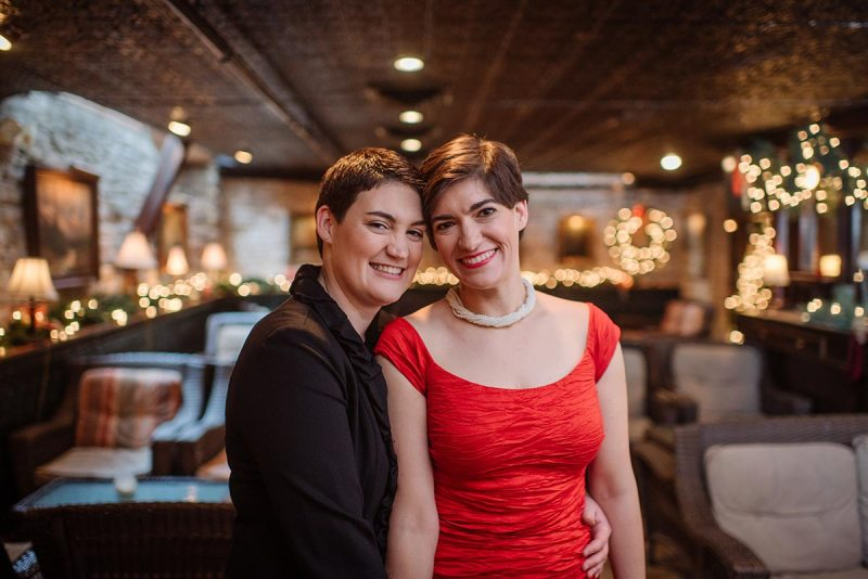 wa frost intimate winter wedding st paul mn same sex couple
