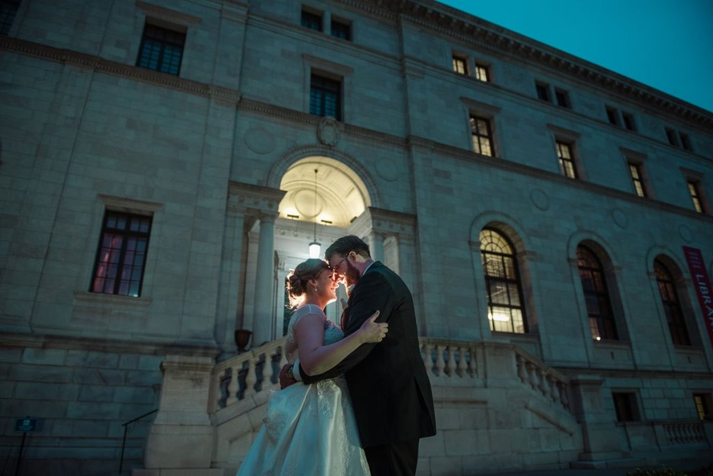 dramatic jj hill library wedding st paul photographer