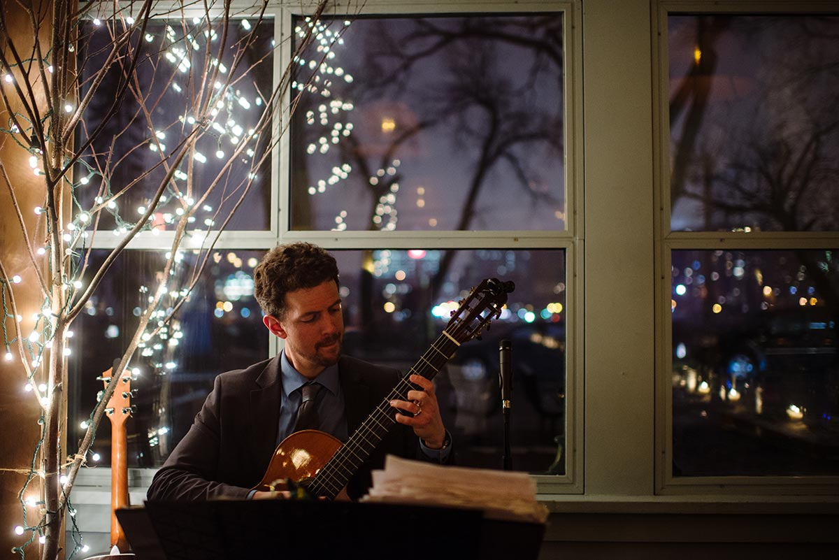 jim falbo guitarist Minneapolis winter Aster Cafe Small Wedding