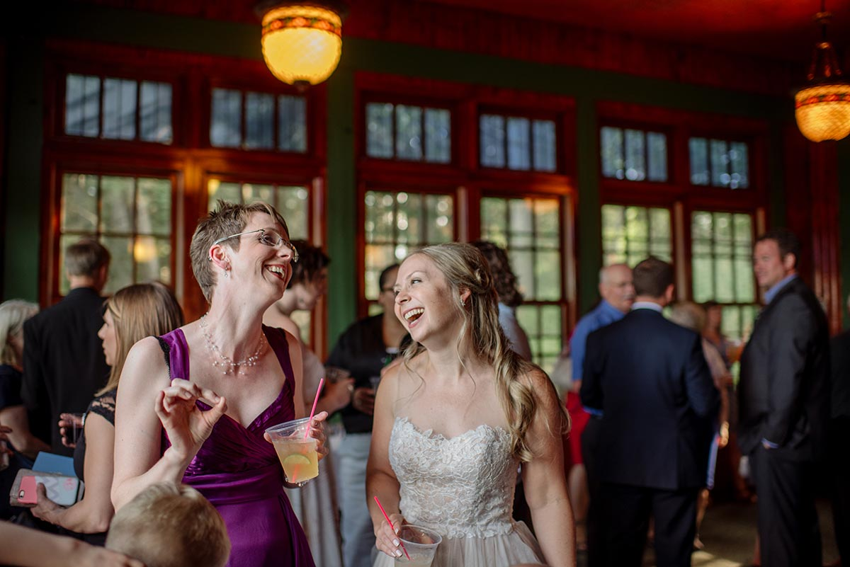 social hour bride laughing Outdoor Minneapolis Wedding