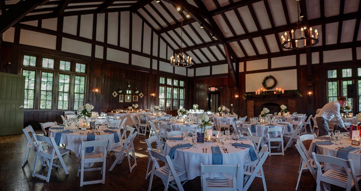 interior of reception Outdoor Minneapolis Wedding