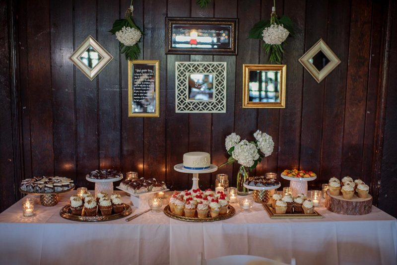 dessert table Outdoor Minneapolis Wedding