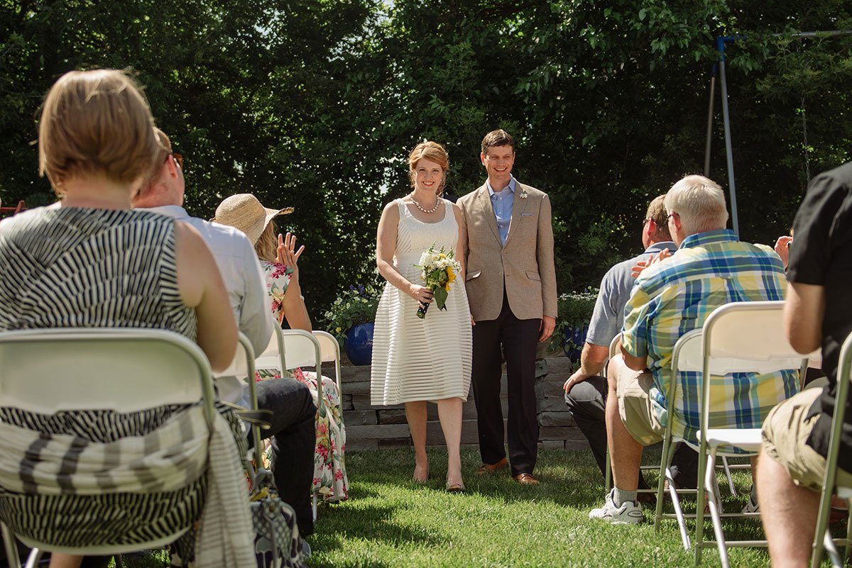 married minnesota backyard wedding