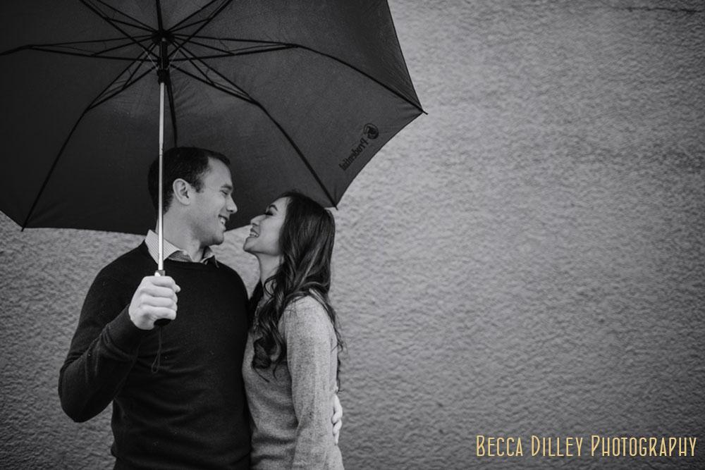 Rainy Minneapolis Engagement Portraits MN