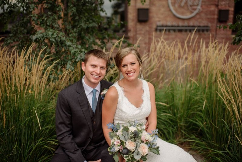Bride and groom MEC wedding Minneapolis