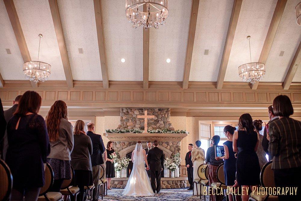 interior of Rush Creek Golf Club Winter Wedding MN