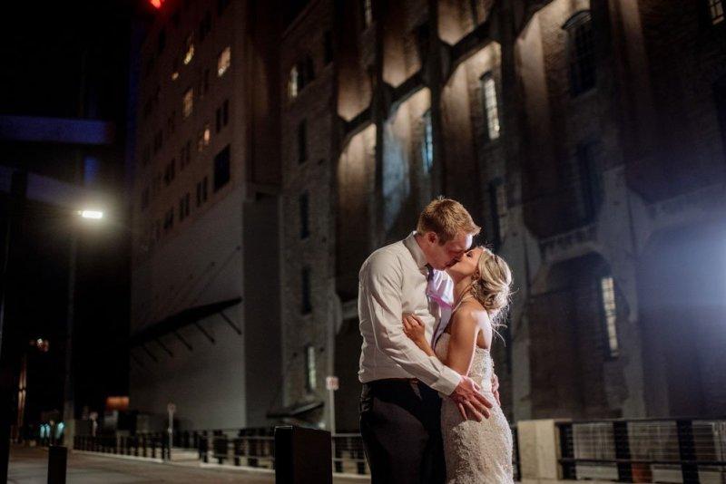 Machine Shop wedding minneapolis at night
